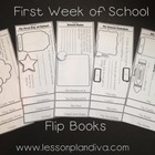 First Week of School Flip Books