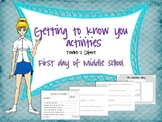 First day of Middle school {Getting to know you activities}