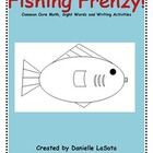Fish Frenzy!  Common Core writing, sight words and math ac