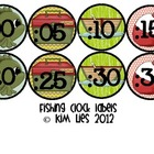 Fishing Clock Labels