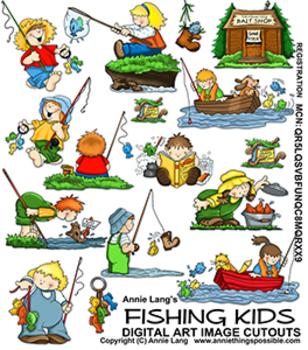 kids ice fishing clip ...
