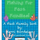 Fishing for Fact Families! Math Center