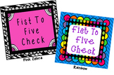 Fist to Five Comprehension Signals Chart (Rainbow)