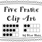 {Five Frame} Clip Art  0-5  Common Core Math Aid Graphics