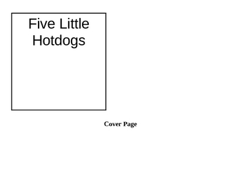 Five Little Hotdogs - Emergent Reader