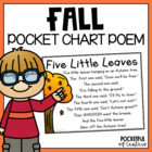 Five Little Leaves Pocket Chart