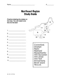 Regions of the United States: Northeast, Study Guide (5 Regions)