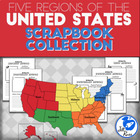 Five Regions of the United States: Scrapbook Collection