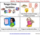 Five Senses Booklet - Spanish Cinco Sentidos Librito