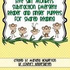 Five Silly Monkeys Subtraction Emergent Reader for Zoo Ani