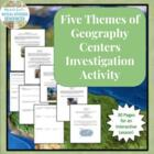Five Themes Geography Centers Investigation Activity