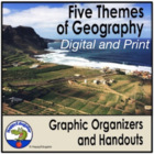 Five Themes of Geography Handouts and Graphic Organizer Set