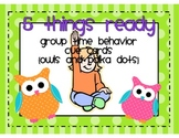Five Things Ready! Behavior Cue Cards {Polka Dots and Owls}