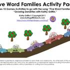 Five Word Families Activity Pack