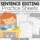 Fix Me! Sentence Editing Practice Sheets