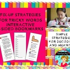 Fix-Up Strategies for Tricky Words Bookmark