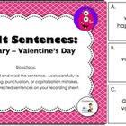 Fix-it Sentences - February (Valentine's Day)
