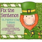 Fix the Mistakes Around the Room: St. Patrick's Day Leprec