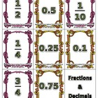 Flash Cards - Fractions and Decimals