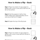 Flip Book Instructions