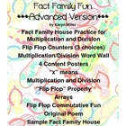 Flip Flop Fact Family House Fun - Advanced, Mult/Div with Bonus
