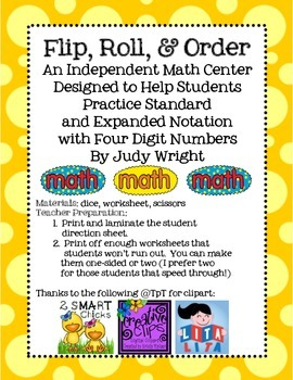 Flip, Roll, and Order: Expanded and Standard Form with 4 Digits