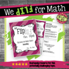Flip for Math:  Step-By Step, 3-in-1, Flip Book for Roundi