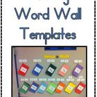 Floating Word Wall Templates