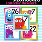 Floral Monsters Calendar Numbers