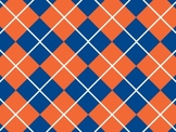 Florida Gators Inspired Blue and Orange Digital Backgrounds