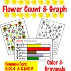 Flower Count & Graph  - Common Core Measurement & Data