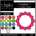 Flower Frames 1 {Graphics for Commercial Use}