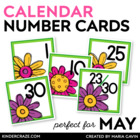 Flower Fun Themed Calendar Numbers