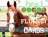 Fluency Task Cards {Horse Facts}
