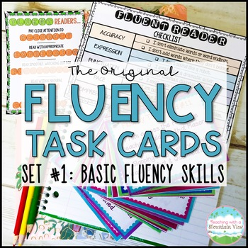 Fluency Task Cards { Short stories for Oral Fluency Reading Practice }