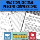 Fluent with Fraction, Decimal, and Percent Conversions