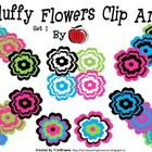 Fluffy Flowers Set 1 Clip Art