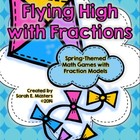 Flying High with Fractions -- Fraction Math Games - Math Centers