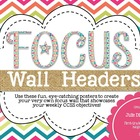 Focus Wall Headers: Summer Craze Edition