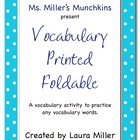 Foldable for Any Vocabulary