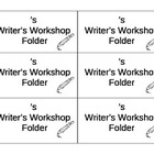 Folder Labels for Writer's Workshop