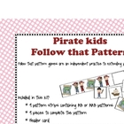 Follow that Pattern- Pirate  theme