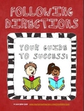 Following Directions Unit: A Must for Any Classroom Teacher!