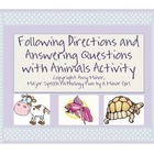 Speech Therapy: Following Directions & Answering Questions