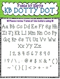 Font - Personal or Commercial Use: KB Dotty Dot