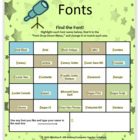 Find the Font! (A Microsoft Word Activity for Grades K-3)