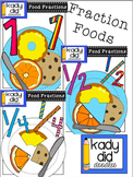 Food Fractions 1, 1/2, 1/4 {by Kady Did Doodles}