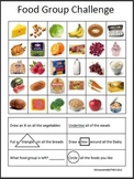 Food Group Worksheet