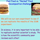 Food Industry / Health - Decomposition Challenge - Lesson