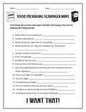 Food Packaging/Advertising Scavenger Hunt